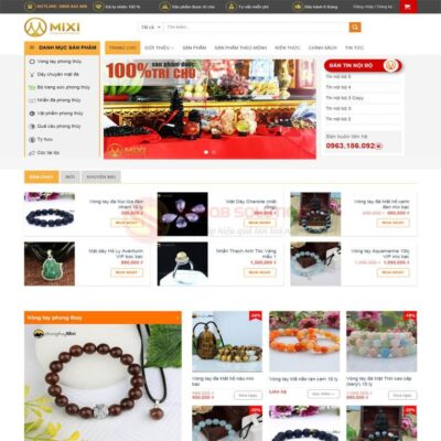 Mau Web Ban Hang Phong Thuy Mixi