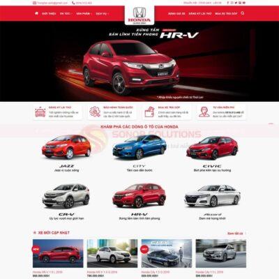 Mau Web Ban Xe Honda