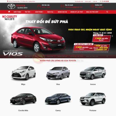 Mau Web Ban Xe Toyota