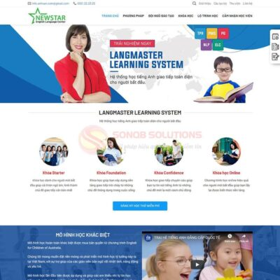 Mau Website Trung Tam Tieng Anh 2584