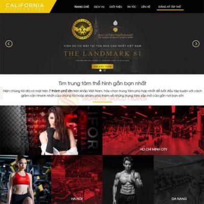 Mau Web Phong Gym