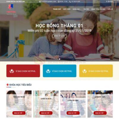 Mau Web Trung Tam Tieng Anh 03