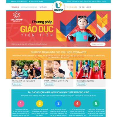 Mau Web Trung Tam Anh Van Cho Tre
